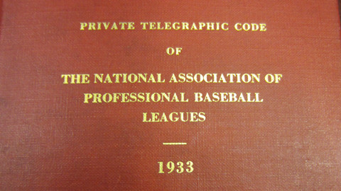 "A ""code book"" was used to help clubs send confidential information over telegraph."