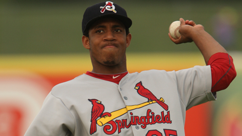 Oscar Taveras had four of Springfield's franchise-record 24 hits Sunday.