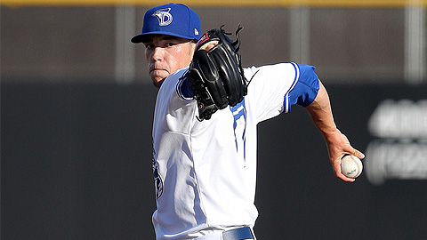 Dunedin's Casey Lawrence struck out five and lowered his ERA to 3.34.
