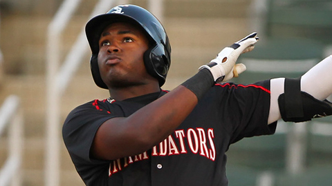 Courtney Hawkins has 11 hits in his first nine games for Kannapolis.